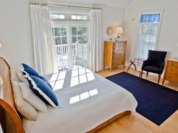 Bedroom Suite #1 - Master Suite Has King Bed, Vaulted Ceiling, Private Deck & Full Bath. Second Floor