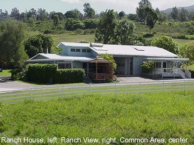 Ranch House left, Ranch View, right, Common Area, center