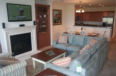 "Living Room - Beuatifully Furnitured, 50"" HDTV, 5 disc CD\DVD, and FIOS"