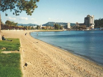 Indian Summer -- Downtown & the Coeur d'Alene Resort from our Beach