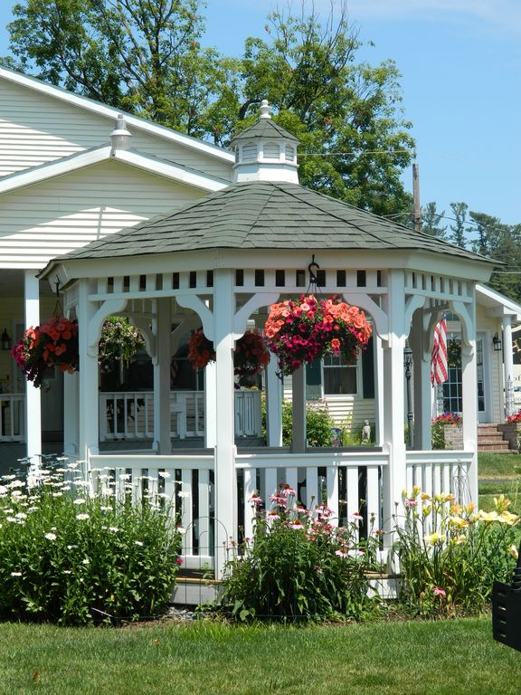 Relax in the gazebo.