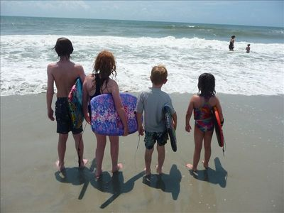 The beach, great for kids of all ages~ warm water with lots of play space.
