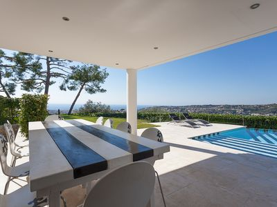 Luxury villa, fantastic view over Nice, peaceful gated domain