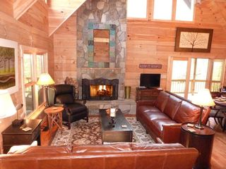 Hot Springs cabin photo - Relax...Come sit by the fire!