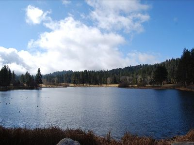 Grass Valley Lake is 1/4 mile from the house (with picnic area and playground)