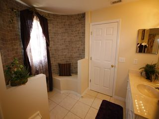 Ensuite bathroom 2 castle themed - Emerald Island villa vacation rental photo