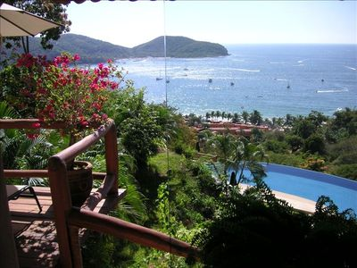 Zihuatanejo condo rental - Condo views of the bay and Ocean.....Words cannot describe...