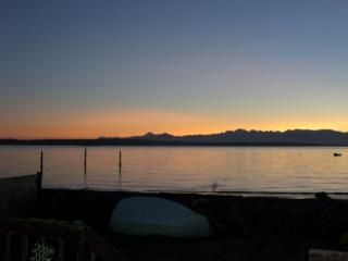 Useless Bay house rental - Sunset view from deck