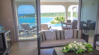 Anguilla villa photo - Spacious upstairs lounge for everyone to gather connects to pool deck and pool