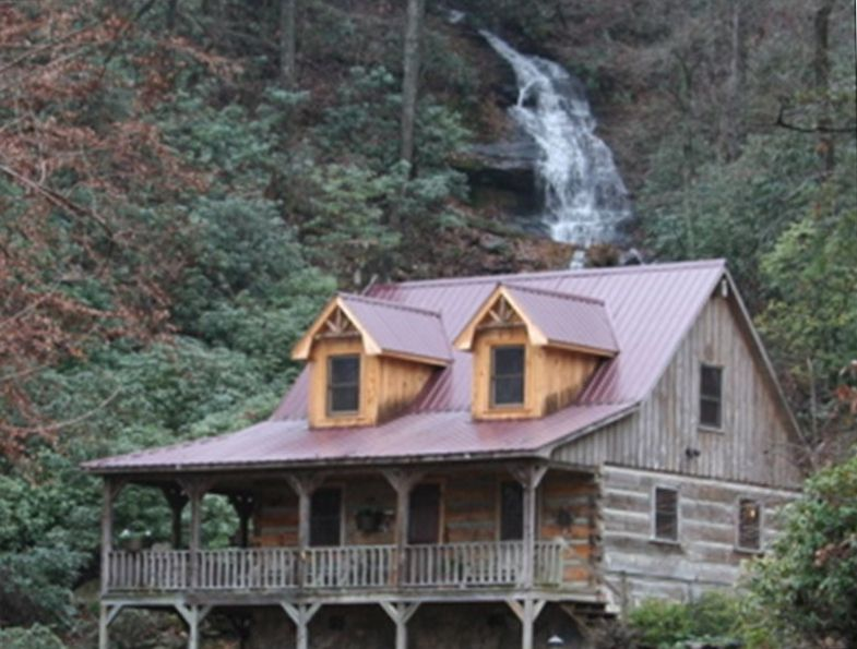 Cozy Log Cabin With Waterfall Vrbo
