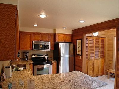 Kitchen- Granite Countertops and Stainless Appliances.