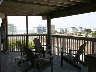 Cape San Blas house photo - Relax on the lower deck and watch the sunset