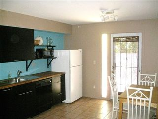 Tempe apartment photo - New kitchen with smooth-top range, wood counters and all the comforts