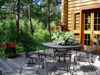 Enjoy your morning coffee or evening drink on one of two back decks .