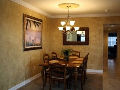 Large dining area with seating for 6.