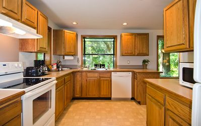 Large, immaculate well-stocked kitchen. Everything you need to make great meals!