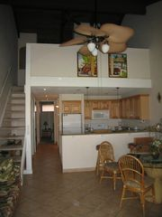 Vaulted Ceiling and Loft w double bed and two twin beds - Lahaina condo vacation rental photo