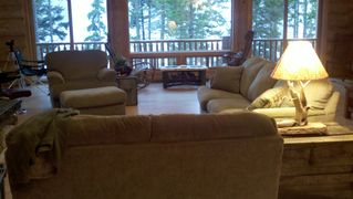 Gouldsboro cabin photo - Great Room Sitting Area...