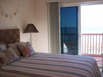 Guest bedroom with private gulf front balcony