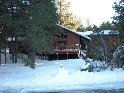 Flagstaff cabin rental - Winter view
