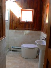 Phoenicia house photo - Upstairs bath with 2 skylights makes it feel like an outdoor shower!