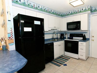 Folly Field villa rental - All New Martha Stewart Beadboard Kitchen with new Appliances--fully stocked!