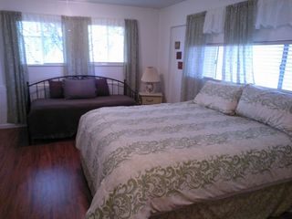 Morro Bay house photo - Second Bedroom Downstairs with King bed and 2 Single Beds (Trundle Bed)