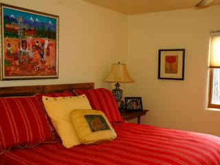 Large master bedroom with master bath - Taos house vacation rental photo