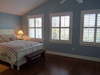 Rehoboth Beach house photo - Master bedroom with queen size bed, lake view