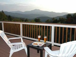 Waterbury Center villa photo - Relax, enjoy outdoor dining and marvel at panoramic mountain views from SUN DECK