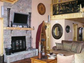 Fireplace/Plasma TV & Interior View