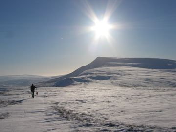Wild Boar Fell, walking in Winter