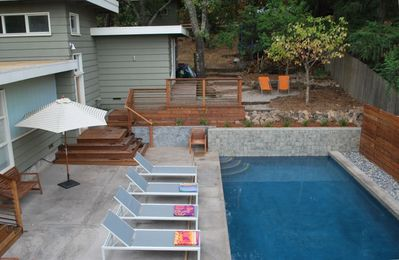 Solar Heated Pool with Automatic Cover