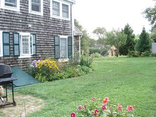 Yarmouth townhome photo - Rear of Rental and part of Garden