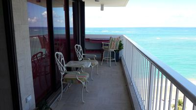 Balcony. You can enjoy the ocean view from all rooms in the apartment