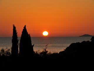 Palombaggia villa photo - sun set seen from the patio