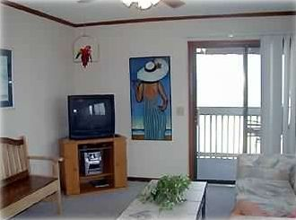 Livingroom over looking the beach
