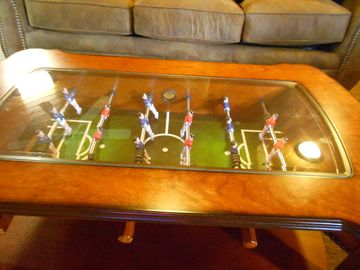 Wears Valley rental cabin Foosball table, part of mini Game Room w video arcade.