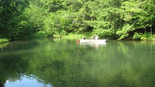 Wellsboro lodge photo - Canoe or fish in the Pond