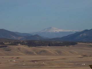 Pikes Peak in background - Jefferson cabin vacation rental photo
