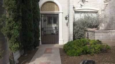 Entrance to your 3 bedroom/2 bath townhouse in the beautiful Catalina Foothills.