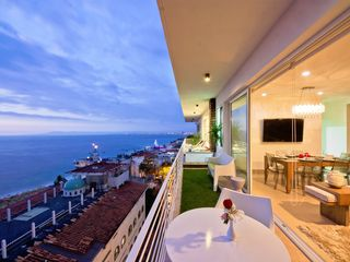 Puerto Vallarta condo photo - Spectacular view from terrace in living room ft jacuzzi (access living&bedroom)