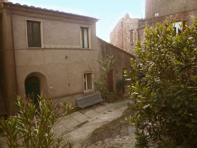 Comfortable House for 6 in historic center of Roccatederighi with view & balcony