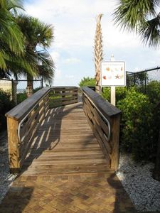 Public Beach access at S.Collier Blvd (1.5 blocks)