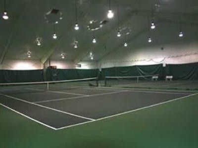 Indoor tennis courts.