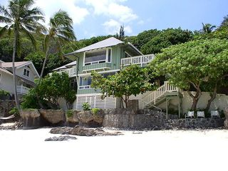 Lanikai house photo - Front view of home on beautiful white sand beach