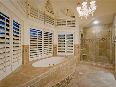 Master Bath also features his & her vanities and sinks and large walk-in closet