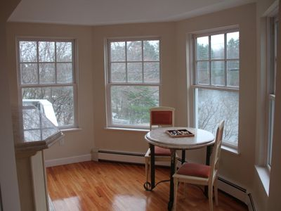 Kittery estate rental - (MH) Main House Bar Area opens to Living Room w/270% views of Chauncey Creek