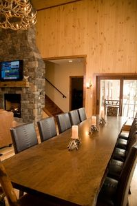 Seven Springs cabin rental - Dining area table