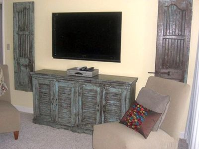 "47"" HDTV with DVD and stereo system"